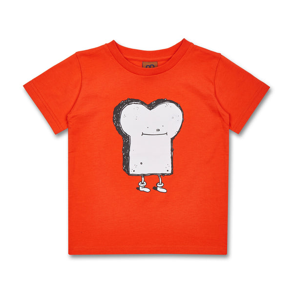 Kinder T-Shirt Cleptomanicx Toast Bio-Baumwolle orange