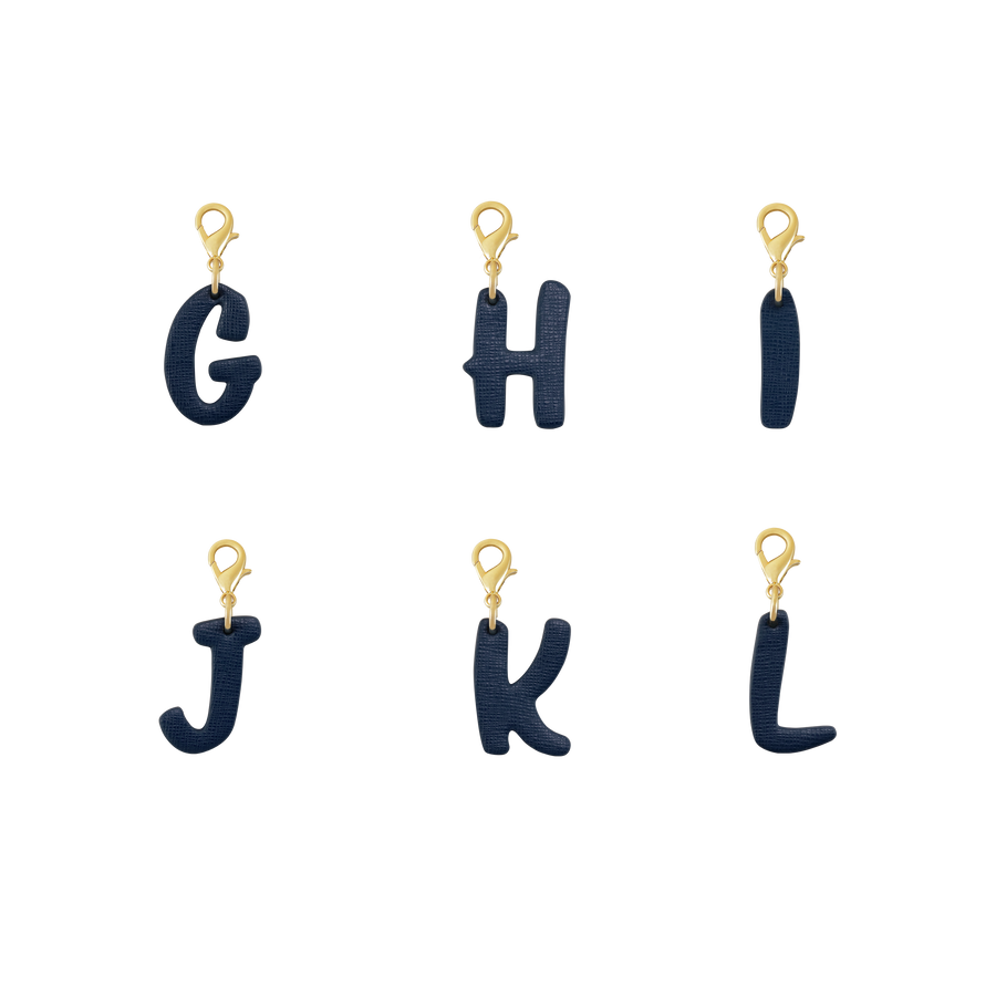 Letter Charms (A - Z) in Blue For Cats