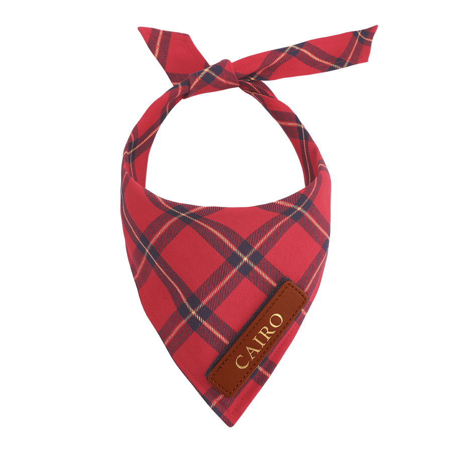 Red Plaid Cat Bandana