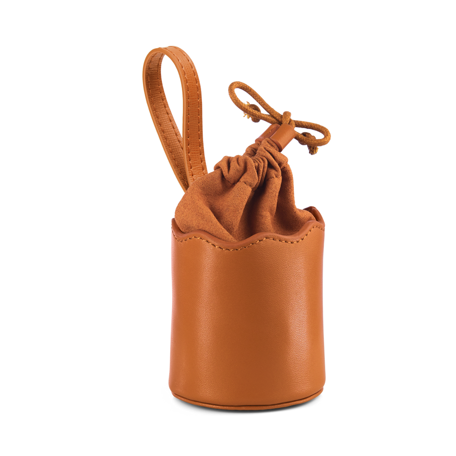 Wave Dog Treats Bag with Drawstring – Tan - PREORDER