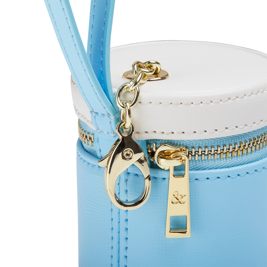 LIGHT BLUE - WHITE TREATS BAG