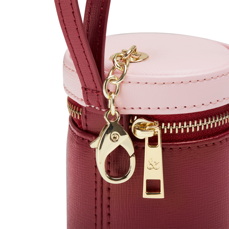 MAROON - PINK TREATS BAG