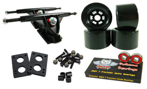 Longboard 180mm Trucks Combo w/ 83mm Flywheels + Owlsome ABEC 7 Bearings