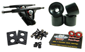 Longboard 180mm Trucks Combo w/ 70mm Wheels + Owlsome ABEC 7 Bearings