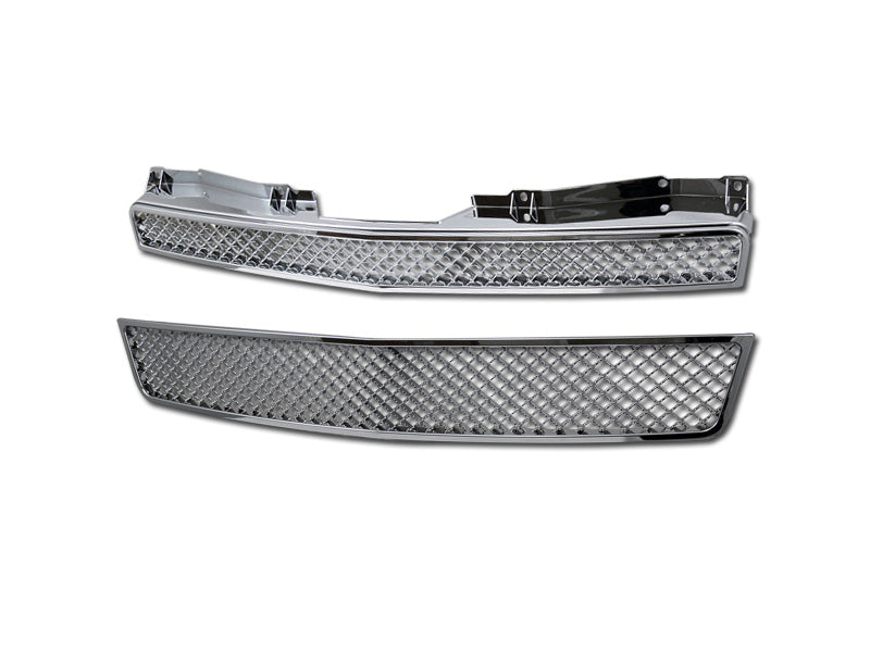 Armordillo 2007-2014 Chevy Tahoe Mesh Grille Chrome - Armordillo USA by I3 Enterprise Inc.