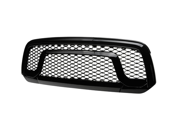 Armordillo 2013-2018 Dodge Ram 1500 OE Style Grille - Gloss Black - Armordillo USA by I3 Enterprise Inc.