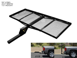 "Armordillo 2"" Hitch Cargo Carrier 23' X 59' Tray-Style Fold Up Trailer Hitch - Black"