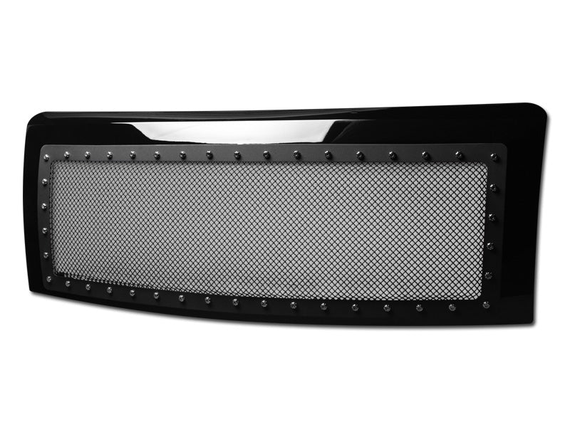 Armordillo 2009-2014 Ford F-150 Studded Mesh Grille Gloss Black - Armordillo USA by I3 Enterprise Inc.