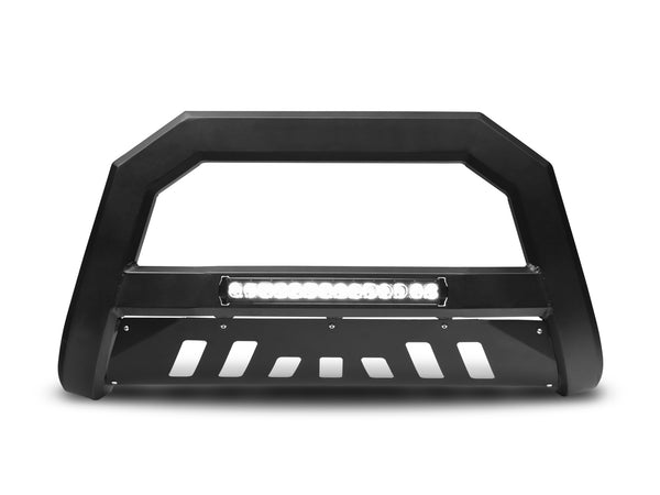 Armordillo 2007-2009 Jeep wrangler AR Series Bull Bar w/LED - Matte Black - Armordillo USA by I3 Enterprise Inc.