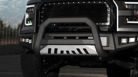 Armordillo 2008-2010 Ford Super Duty F-250/F-350/F-450 AR Series Bull Bar - Matte Black W/Aluminum Skid Plate - Armordillo USA by I3 Enterprise Inc.