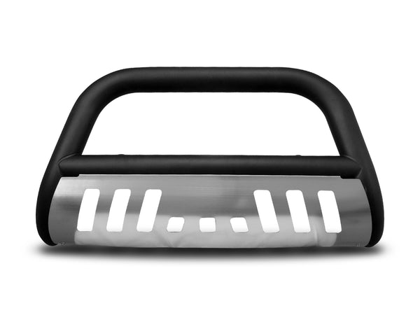 Armordillo 1999-2004 Ford F-250/F-350/F-450/F-550 Super Duty Classic Bull Bar - Matte Black W/Aluminum Skid Plate - Armordillo USA by I3 Enterprise Inc.