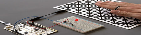 Controlling an LED using proximity sensing and the Touch Board