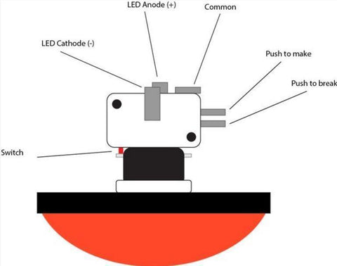 [DIAGRAM_38YU]  How to use a Big Dome Button! — Cool Components | Led Button Wiring Diagram |  | Cool Components