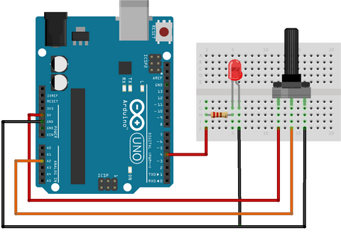 how to use a potentiometer with an arduino — cool components