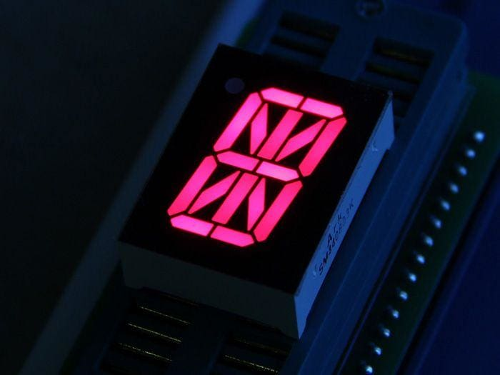 0.8 Inch 16 Segment LED - Red - LED Displays