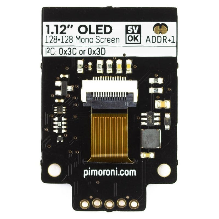 1.12 Mono Oled (128X128 White/black) Breakout - Oled Displays