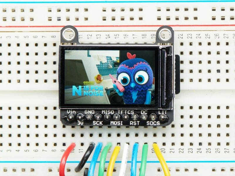 1.14 240x135 Color TFT Display + MicroSD Card Breakout - ST7789 - TFT Display