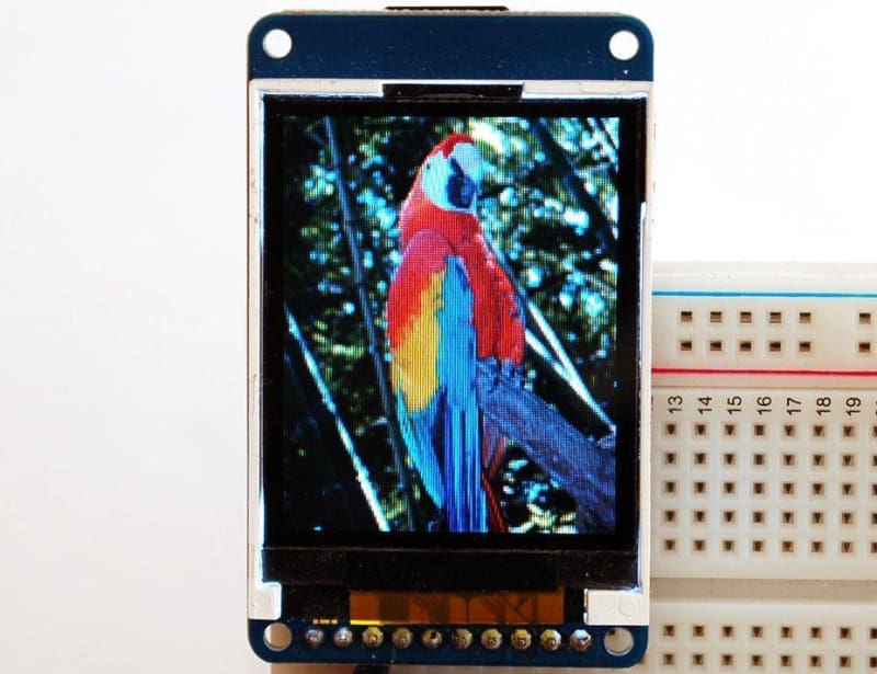 1.8 18-Bit Color Tft Lcd Display With Microsd Card Breakout (Id: 358) - Lcd Displays