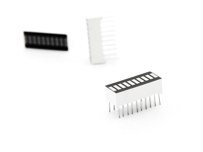 10 Segment LED Bar - White LEDs - LED Displays