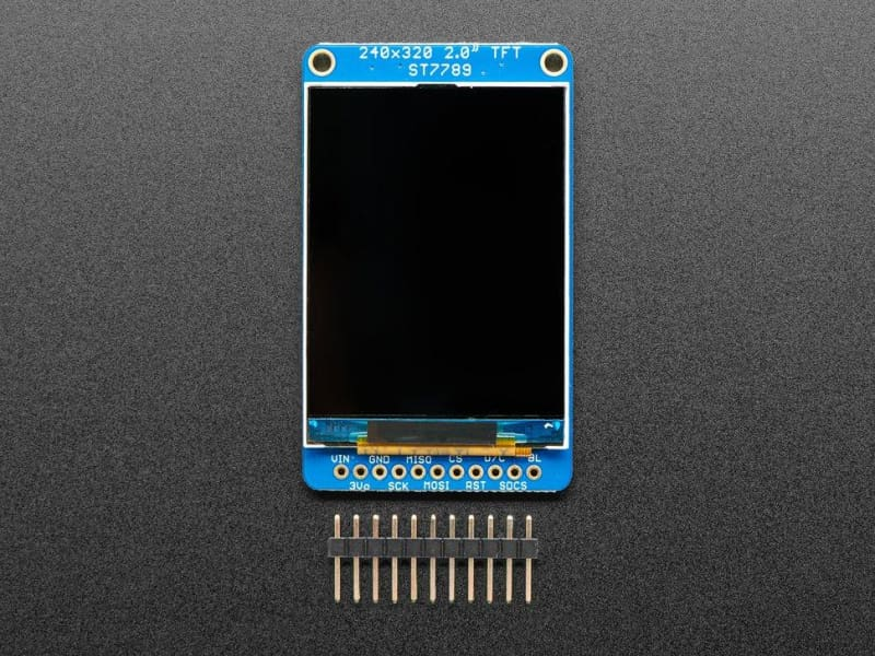 2.0 320x240 Color IPS TFT Display with microSD Card Breakout (ID:4311) - TFT Display
