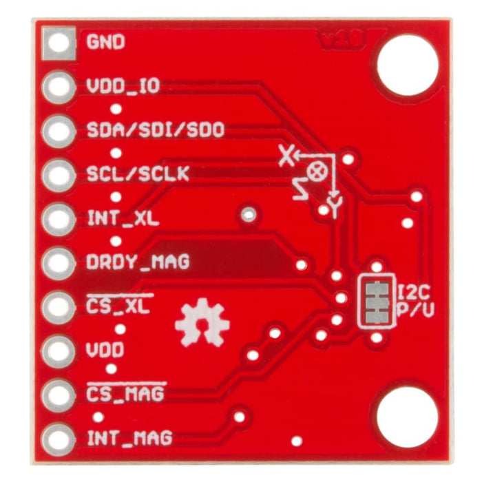 6 Degrees Of Freedom Breakout - Lsm303C (Bob-13303) - Acceleration