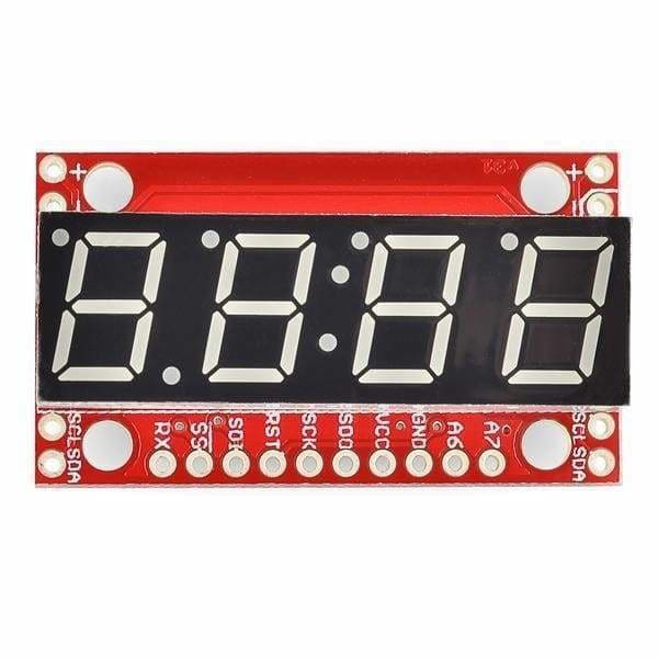 7-Segment Serial Display - Red (Com-11441) - Led Displays