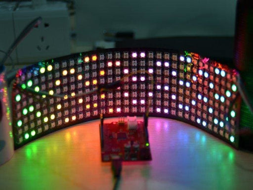 8x32 Flexible RGB LED Matrix Intelligent control light source - LED Displays