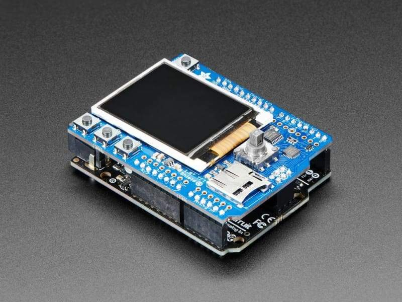 Adafruit 1.8 Color Tft Shield W/microsd And Joystick (V2) (Id: 802) - Lcd Displays