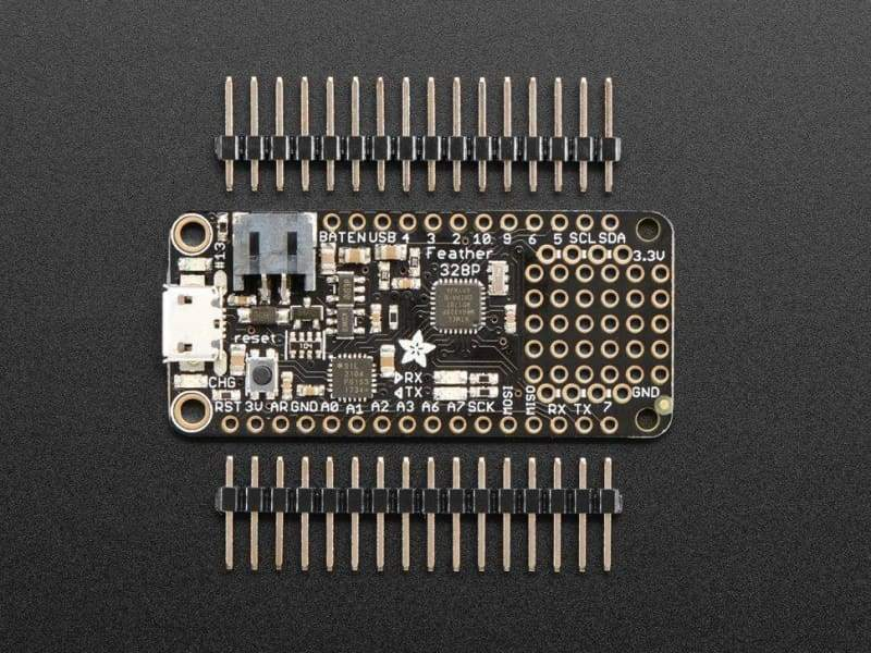 Adafruit Feather 328P - Atmega328P 3.3V @ 8 Mhz (Id: 2467) - Feather