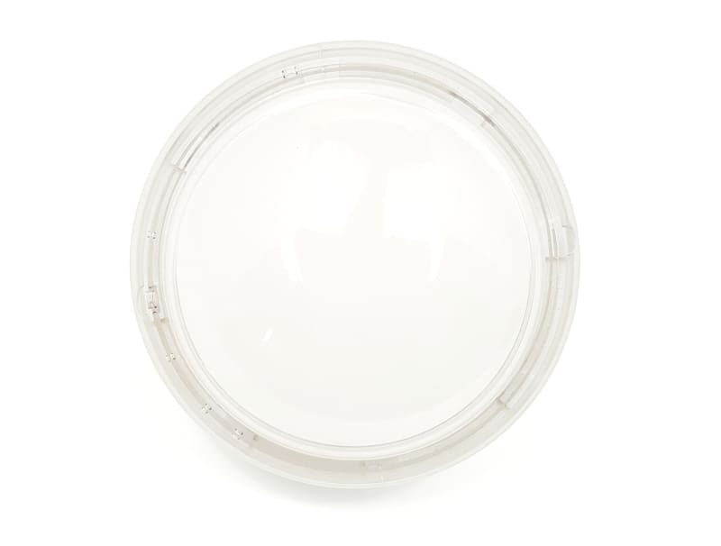 Big Dome Push Button - White With Clear Case Rim - Buttons