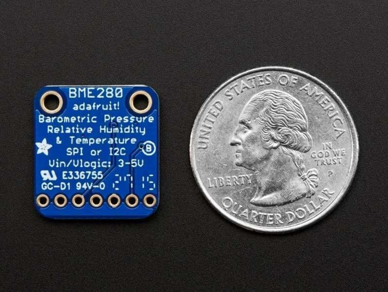 Bme280 I2C Or Spi Temperature Humidity Pressure Sensor (Id: 2652) - Atmospheric
