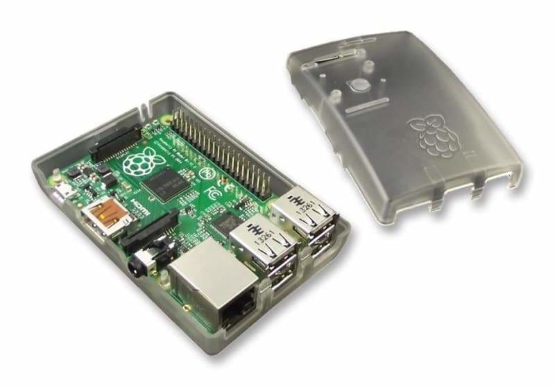 Case for Raspberry Pi Model B+ 2 and 3 - Transparent/Opaque - Raspberry Pi Enclosures