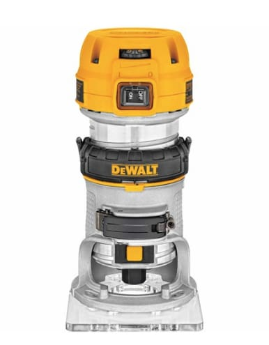 Dewalt 900W 1/4 Compact Fixed Based Trim Router 240V - D26200-Gb/dwp611 - Cnc