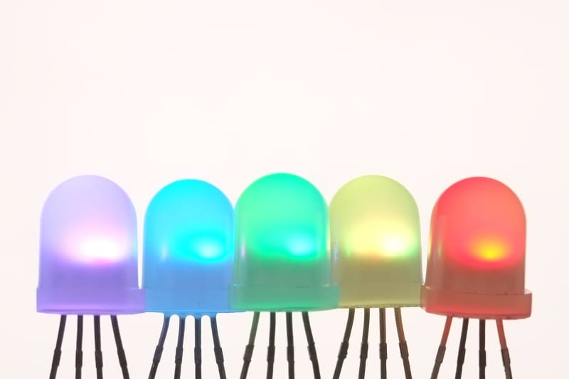 Digital Rgb Addressable Led - 8Mm Through-Hole (10-Pack) - Leds
