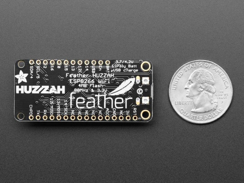 Feather Huzzah With Esp8266 (Id: 2821) - Arm Processor Based