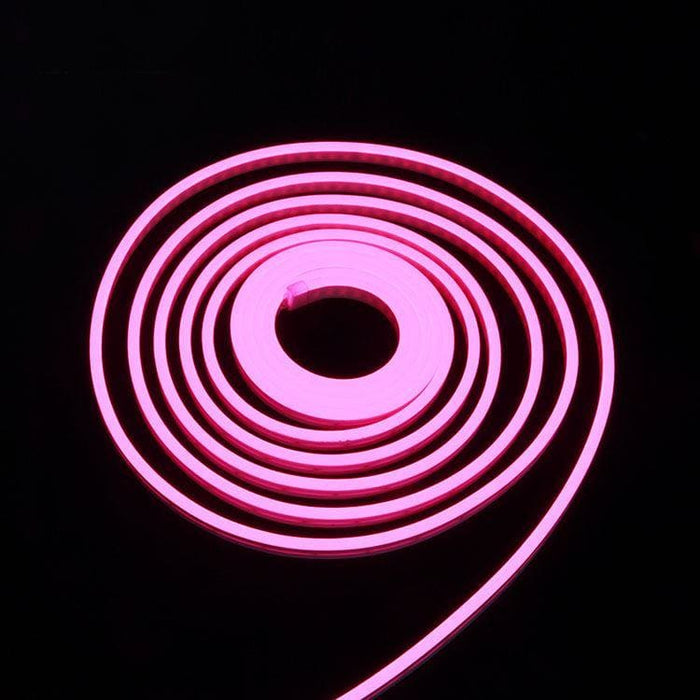 Flexible Silicone Neon-Like LED Strip - 1 Meter - Pink - LEDs