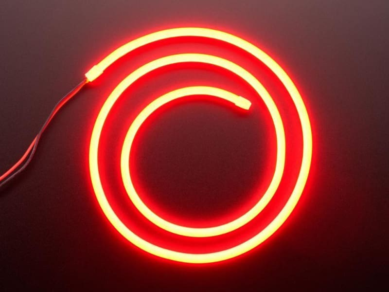 Flexible Silicone Neon-Like LED Strip - 1 Meter - Red - LEDs