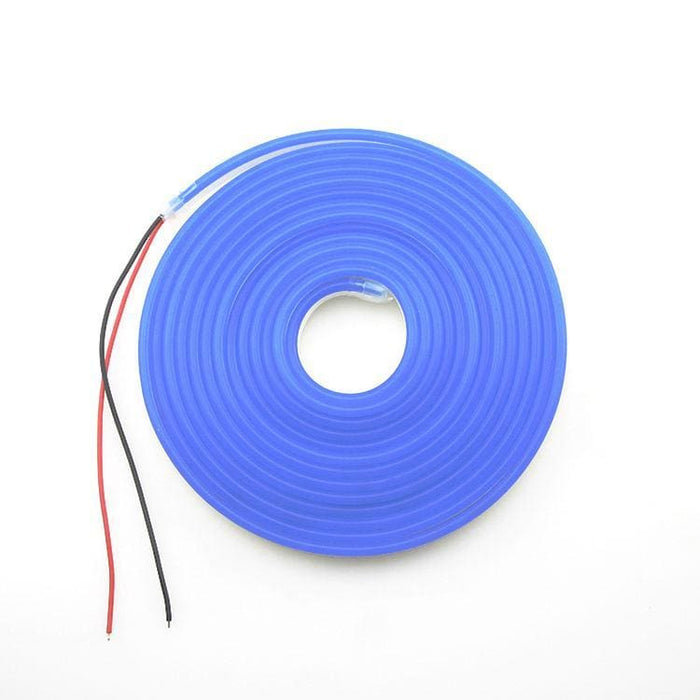 Flexible Silicone Neon-Like Led Strip - 5 Meter - Blue - Leds