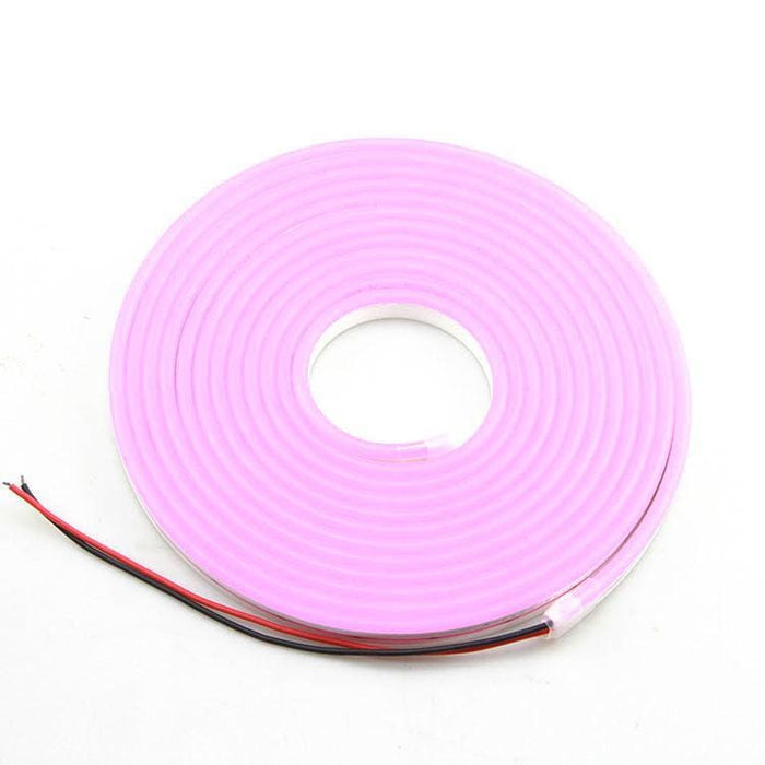 Flexible Silicone Neon-Like Led Strip - 5 Meter - Pink - Leds