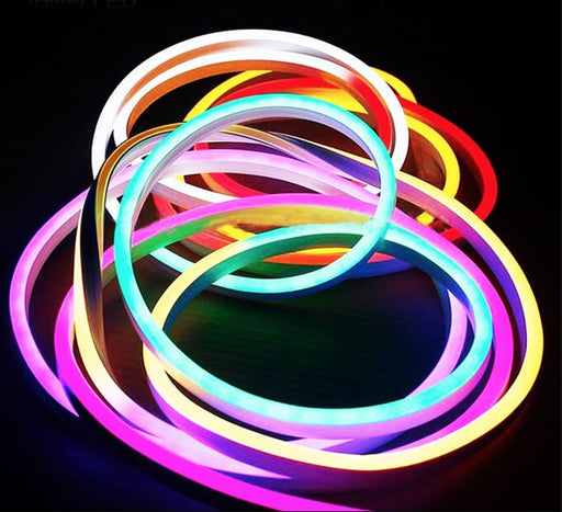 Flexible Silicone Neon-Like RGB LED Strip - 5 Meter - LEDs