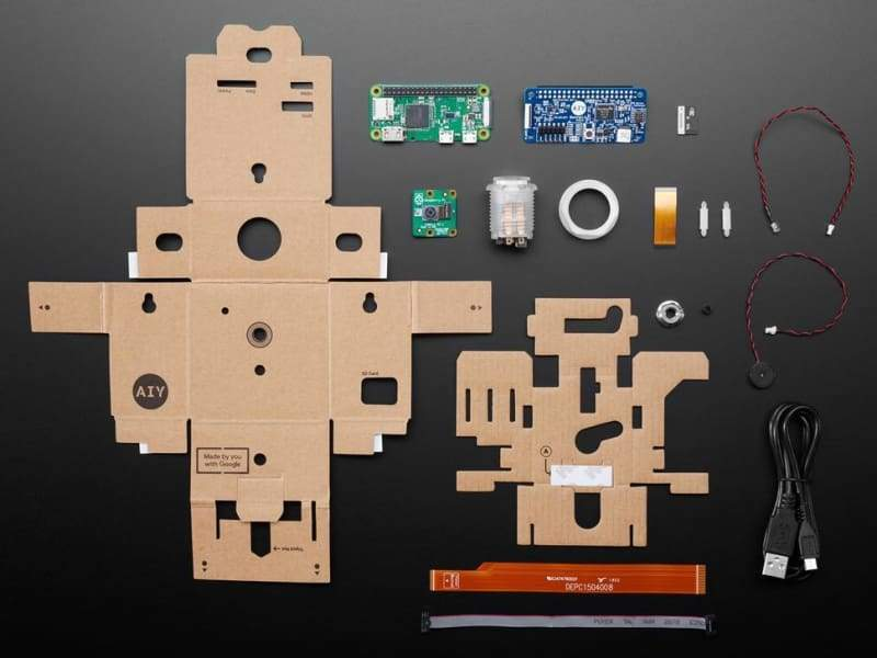 Google Aiy Vision Full Kit - Includes Pi Zero Wh (V1.1) - Cameras