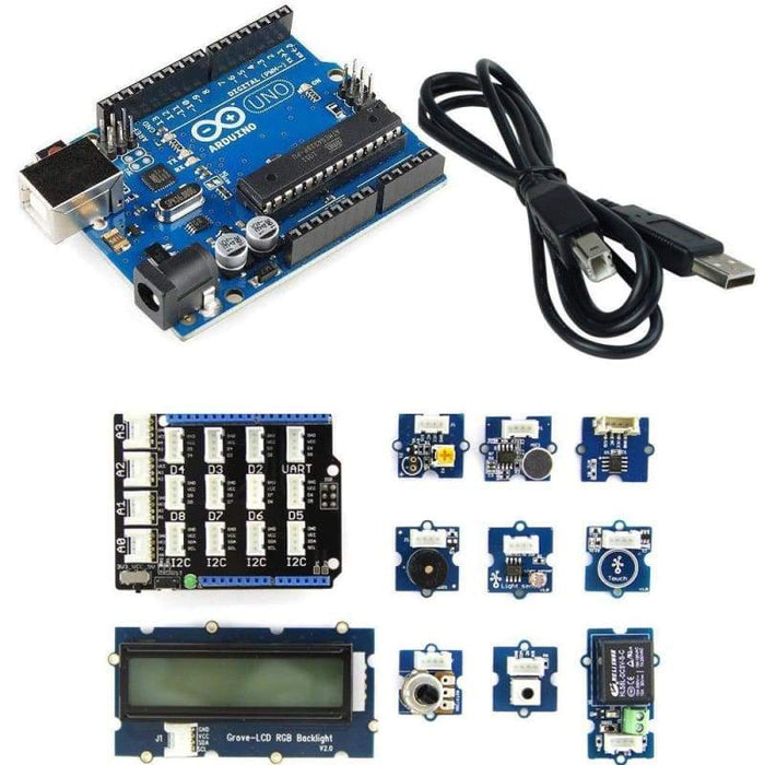 Grove Bundle Starter Kit For Arduino + Arduino Uno R3 - Kits