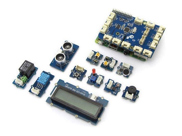 Grovepi+ Bundle Starter Kit + Raspberry Pi 3 Model B+ - Raspberry Pi Kits