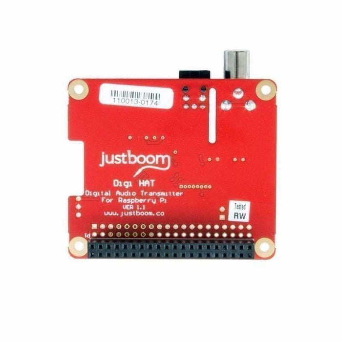 Justboom Digi Hat For The Raspberry Pi - Audio