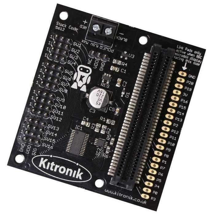 Kitronik 16 Servo Driver Board For The Bbc Micro:bit - Motion Controllers