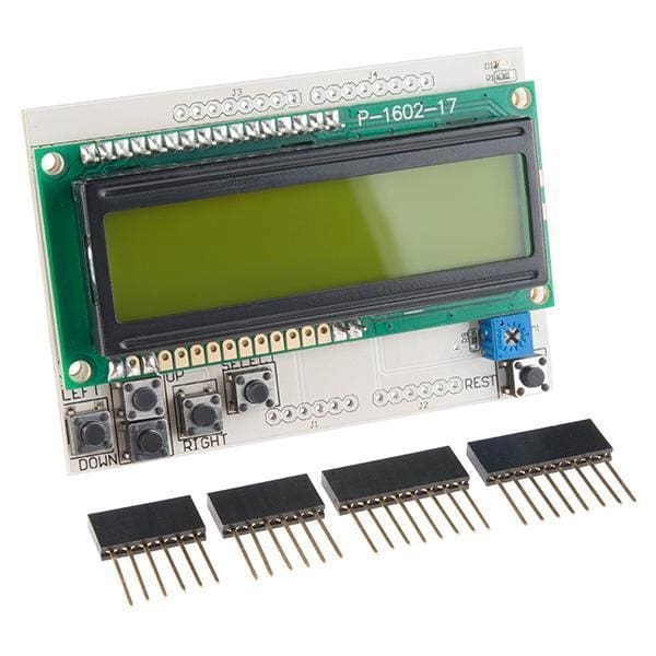 LCD Button Shield V2 (DEV-13293) - LCD Displays