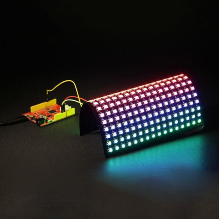 Led Flexible Matrix - 16X16 - 160Mm X 160Mm - Sk6812 (Adafruit Neopixel Compatible) - Led Displays