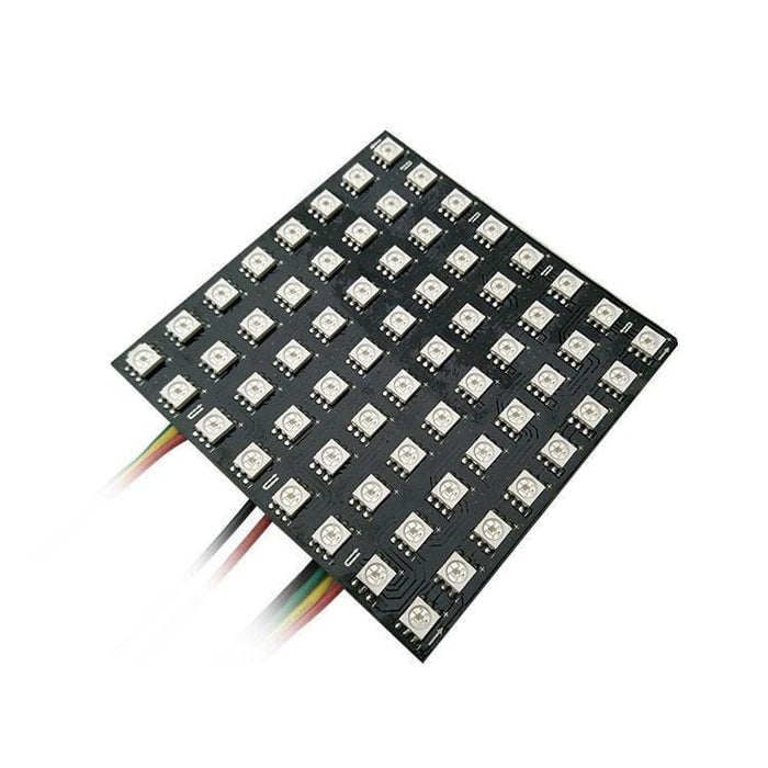 Led Flexible Matrix - 8X8 - 80Mm X 80Mm - Sk9822 (Adafruit Dotstar Compatible) - Led Displays