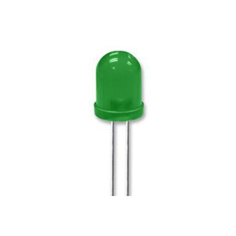 Led Green - 10Mm Through-Hole Diffused Lens - Leds