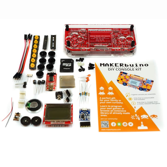 Makerbuino Build Your Own Video Game Console Diy Stem Learning Kit - Dev Boards